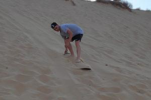 sandboarding in the Negev - Krivine Guesthouse